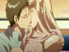 Golden-haired anime cutie gets licked and fucked