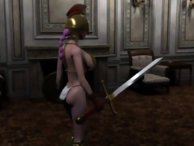 Pink haired elf princess in hard sex episode