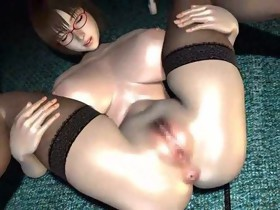 3D anime bitch receives nailed and cummed
