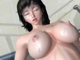 3D hentai whore gets screwed by a monster