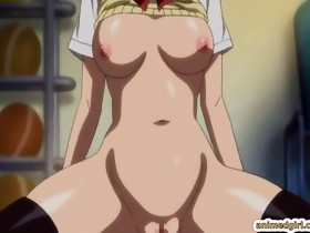 Coed anime with bigtits double penetration