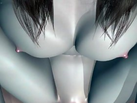 Japanese 3D cute girl sweet fucking