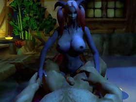 Warcraft Draenei futa fucking a Human Male