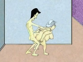 Hawt Anal Granny and Squirt! Animation!