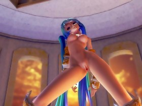 MMD Blue Hair Hotty Sweet Wobblers Gaping Bawdy cleft..
