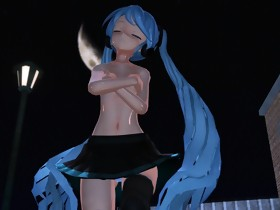 MMD Blue Hair Angel Pierced Nipples Sex Toys Anal GV00185