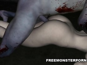 Sexy 3D Zombie Playgirl Licked and Screwed
