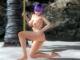 Dead or Alive 5 (DOA5) - Ayane Nude Pole Dancing
