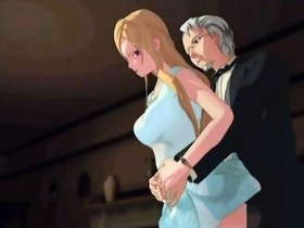 Anime sex scene with a hot busty blonde