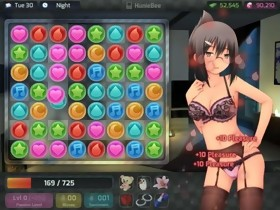 GAME - HuniePop Aiko bedroom stage