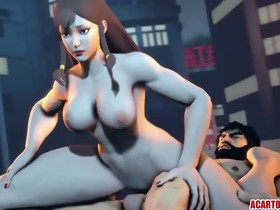 Lustful and nasty Chun Li cookie rammed well