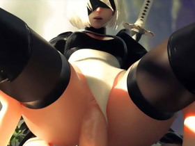 NieR Automata 2B - Vaginal Sex with sound - Hentai