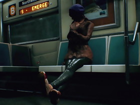 (Unreal Engine Animation) Public Footjob In Subway