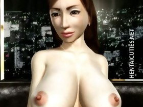 3D hentai MILF acquires big tits tortured