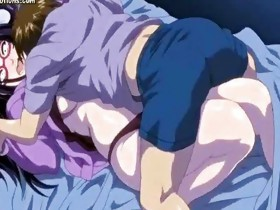 Lascive anime gets overspread in cum